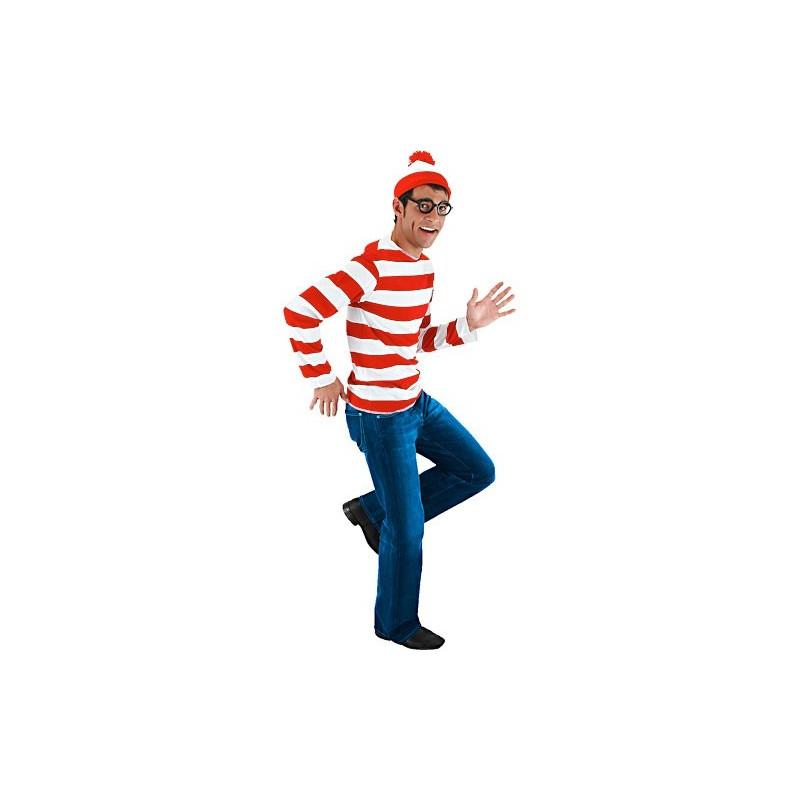 Fantasia Masculina Onde Está Wally Festa Halloween