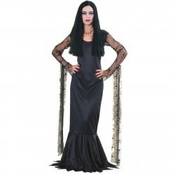 Fantasia Feminina Mortícia Família Addams Festa Halloween