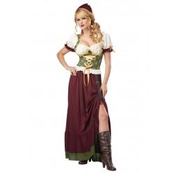 Fantasia Feminina Traje Medieval Festa Halloween