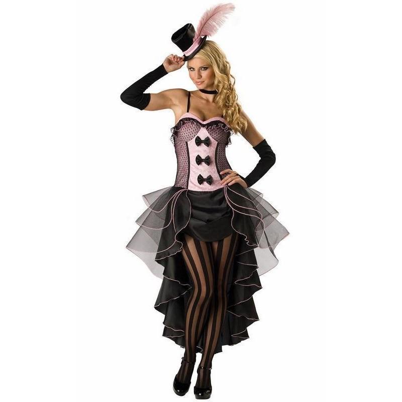 Fantasia Feminina Dançarina Burlesca Traje para Festa Halloween