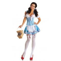 Fantasia Feminina Dorothy Oz Festa Halloween