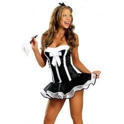 Fantasia Feminina Empregada Francesa Sexy Festa Halloween