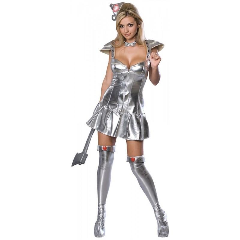Fantasia Feminina Mulher de Lata Oz Festa Halloween