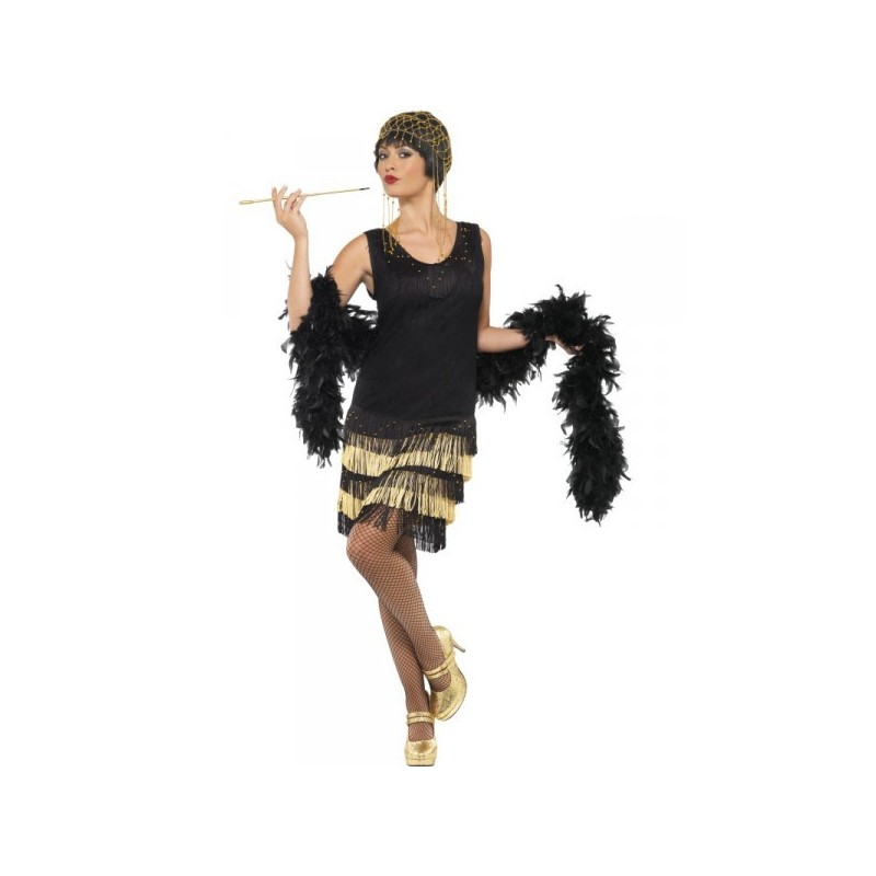 Fantasia Feminina Trajes Década de 20 Festa Halloween