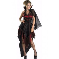 Fantasia Feminina Vampira Festa Halloween
