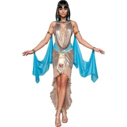 Fantasia Feminino Cleópatra Rainha do Egito Festa Halloween