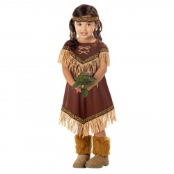 Fantasia Infantil Meninas Pequena Índia Festa Halloween