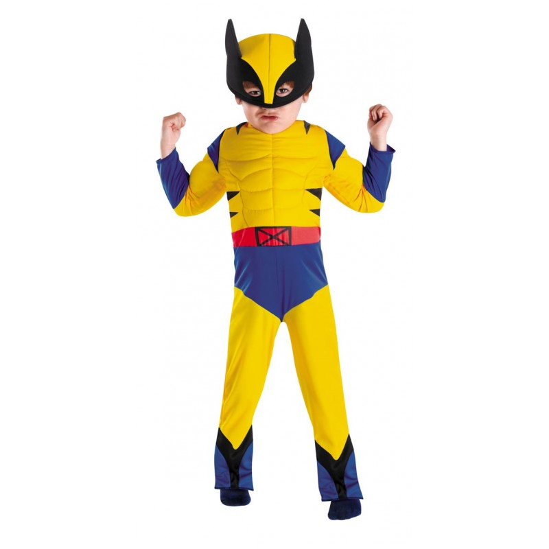 Fantasia Infantil Wolverine Herói Marvel Festa Halloween