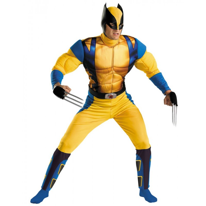 Fantasia Masculina Wolverine Herói Marvel Festa Halloween