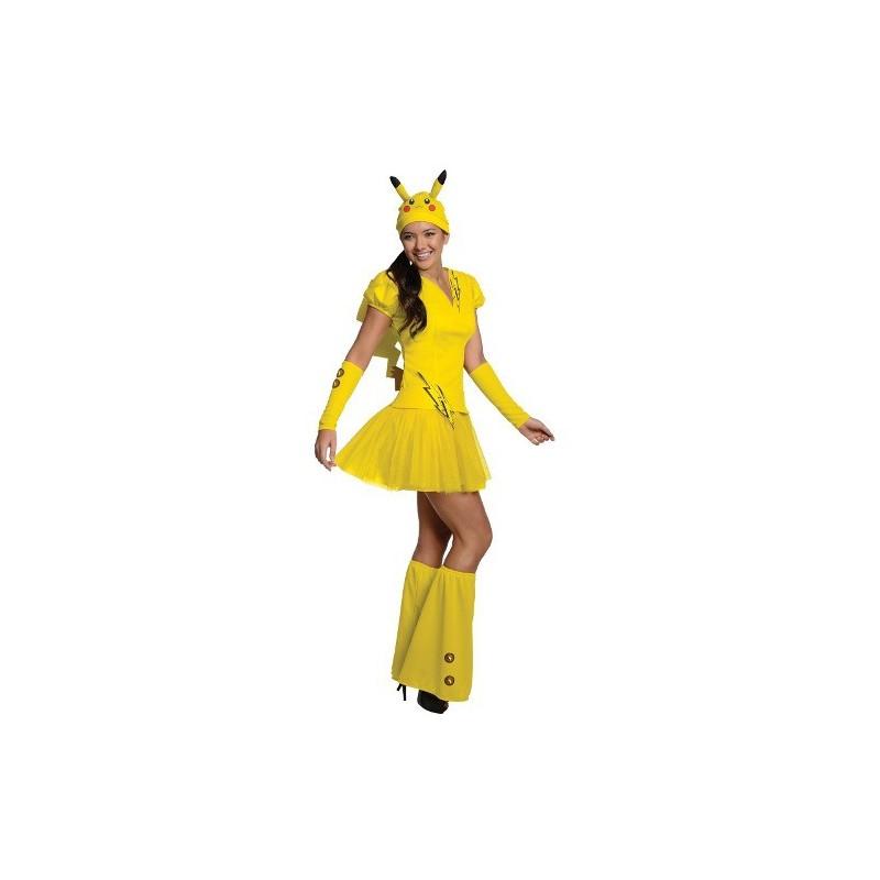Fantasia Feminina Pikachu Pokemon Festa Halloween