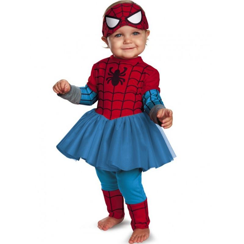 Fantasia Infantil Homem Aranha Meninas Festa Halloween