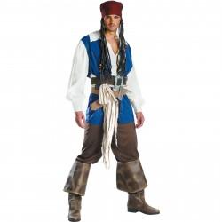 Fantasia Masculina Jack Sparrow Luxo Piratas do Caribe Festa