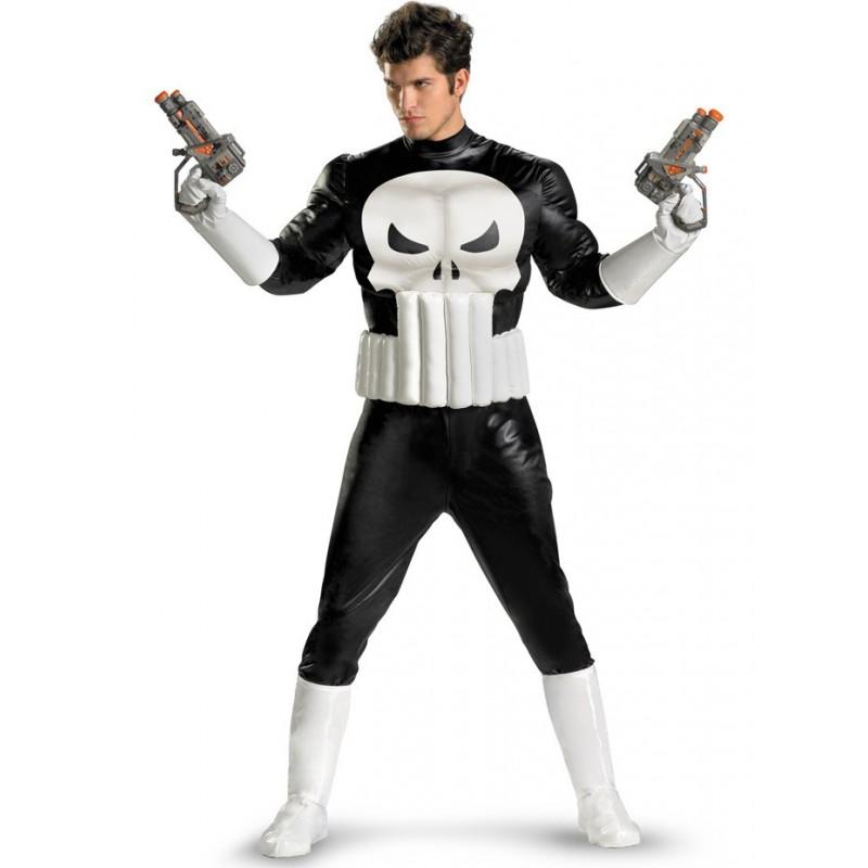 Fantasia Masculina Justiceiro Marvel Super Herói Festa Halloween