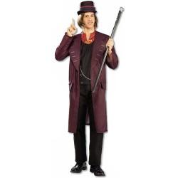 Fantasia Masculina Willy Wonka Traje para Festa a Fantasia