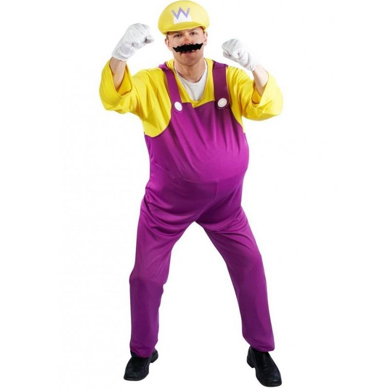 Fantasia Masculina Wario Super Mario Brothers Festa Halloween