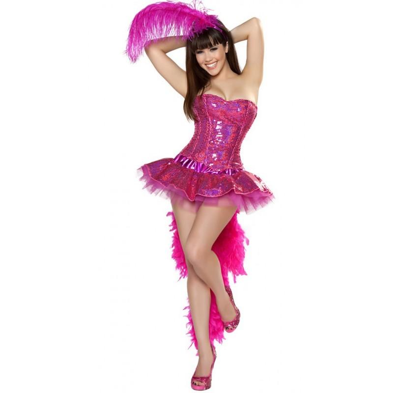 Fantasia Feminina Flamingo Sexy Luxo Traje para Festa a Fantasia