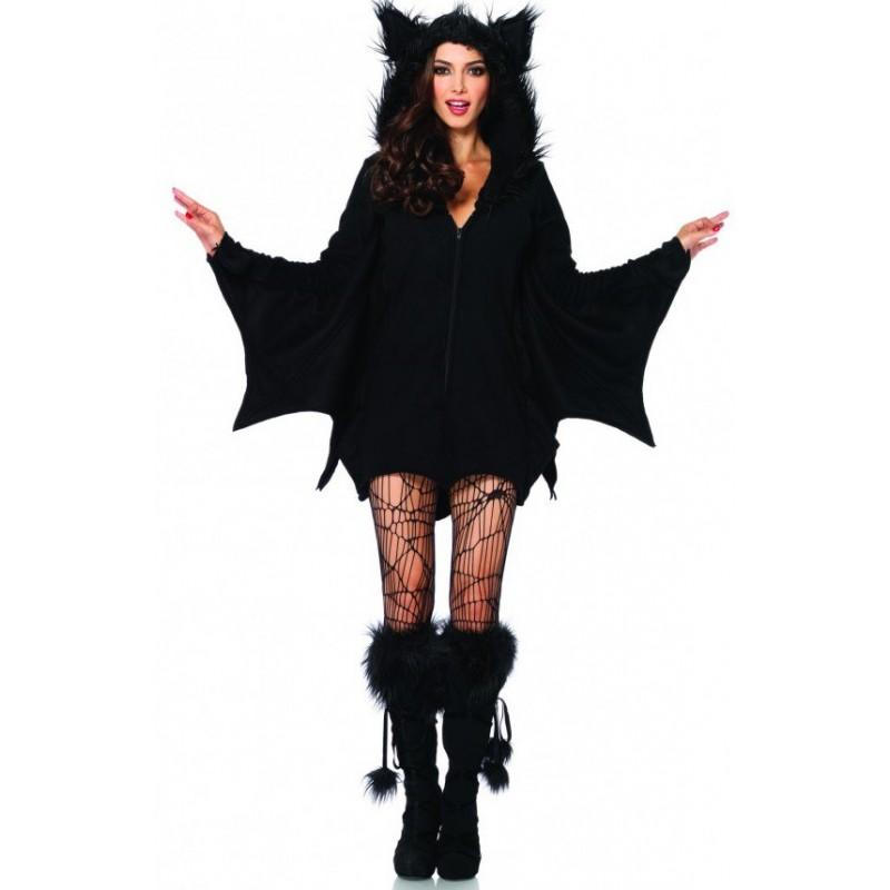 Fantasia Feminina Morcego Traje para Festa a Fantasia