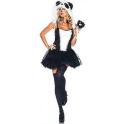 Fantasia Feminina Urso Panda Traje para Festa a Fantasia Halloween