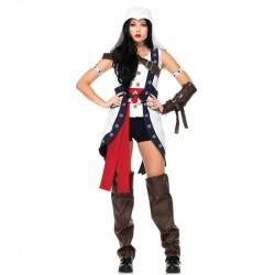 Fantasia Feminina Assassins Creed Connor Cosplay
