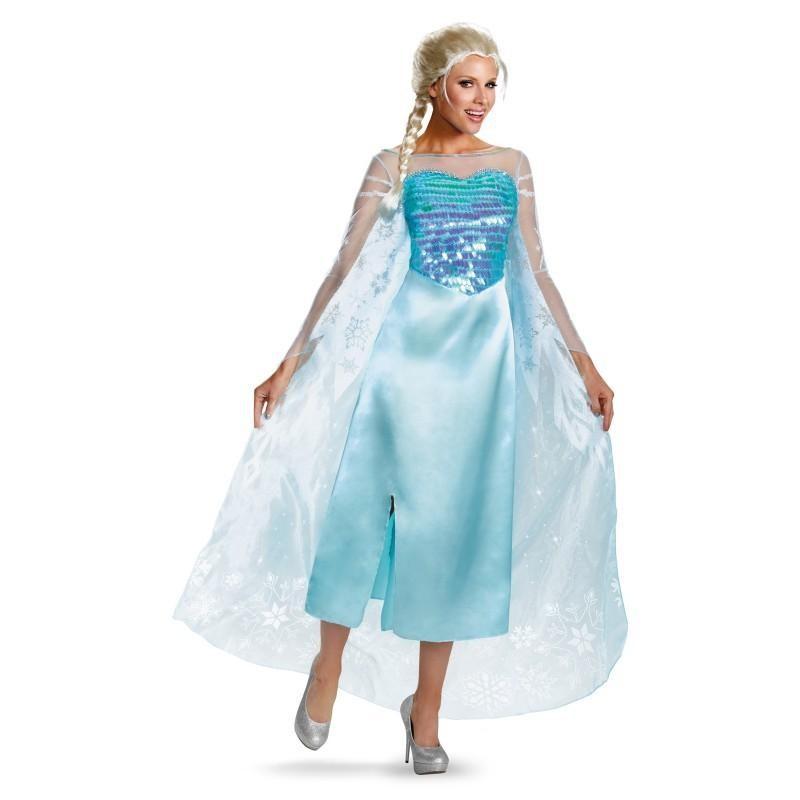 Fantasia Feminina Frozen Elsa Traje para Festa a Fantasia