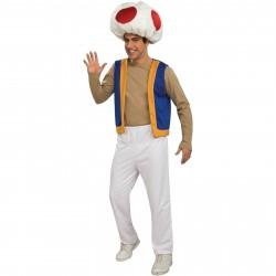 Fantasia Masculina Toad Super Mario Brothers Traje para Festa a Fantasia