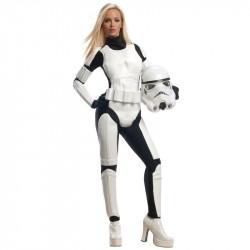 Fantasia Feminina Star Wars Stormtropper Traje Cosplay