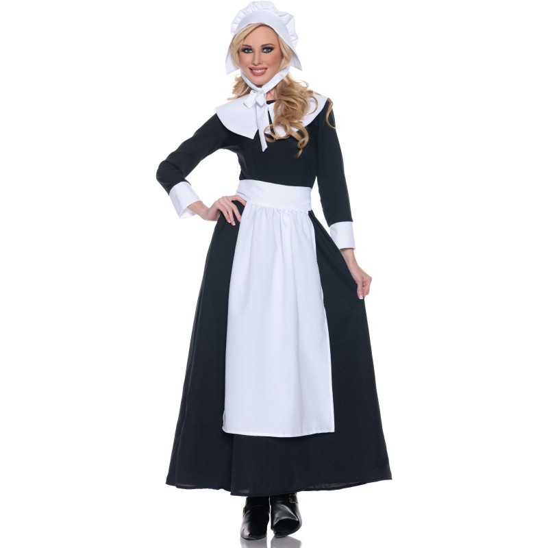 Fantasia Feminina Amish Traje para Festa a Fantasia