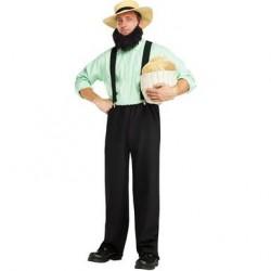 Fantasia Masculina Amish Traje para Festa a Fantasia