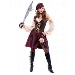 Fantasia Feminina Pirata Traje para Festa a Fantasia