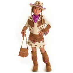 Fantasia Infantil Vaqueira Cowgirl Traje para Festa a Fantasia