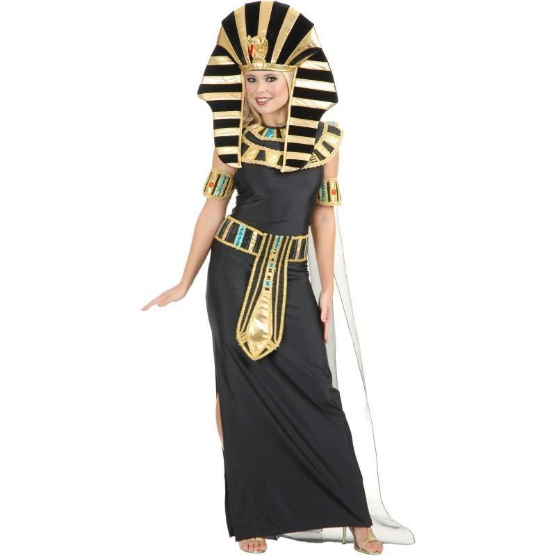 Fantasia Feminina Egipsia Nefertiti Traje para Festa a Fantasia
