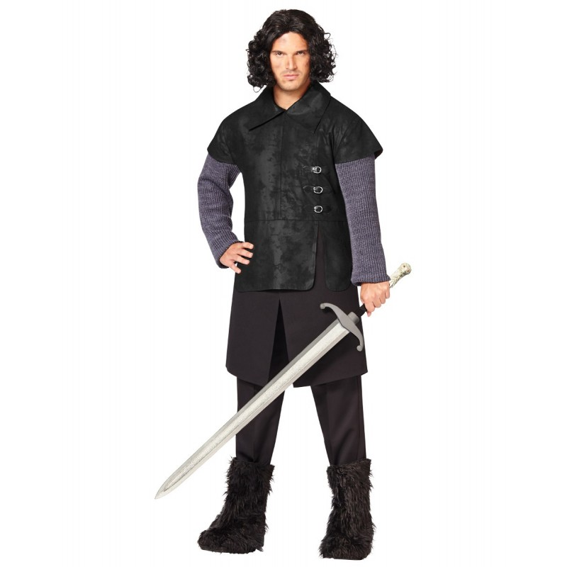 Fantasia Masculina John Snow Game Of Thrones Traje para Festa a Fantasia Cosplay