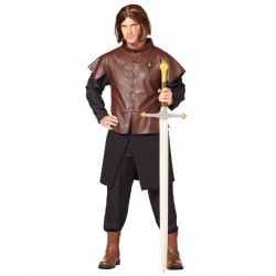 Fantasia Masculina Ned Stark Game Of Thrones Traje para Festa a Fantasia Cosplay