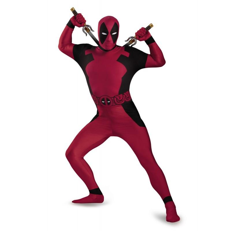 Fantasia Masculina Deadpool Traje para Festa a Fantasia