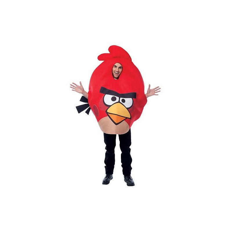 Angry Birds Vermelho Traje Unissex Adulto para Festa a Fantasia Halloween