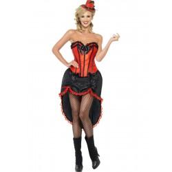 Dançarina Burlesca Cabaret Moulin Rouge Traje Feminino para Festa a Fantasia Halloween
