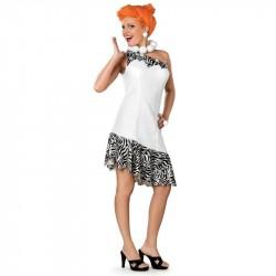 Fantasia Feminina Wilma dos Flintstones Traje para Festa a Fantasia