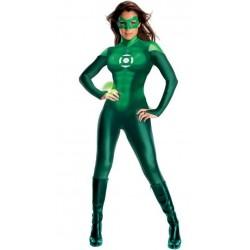 Lanterna Verde Traje Feminino para Festa a Fantasia Halloween Cosplay