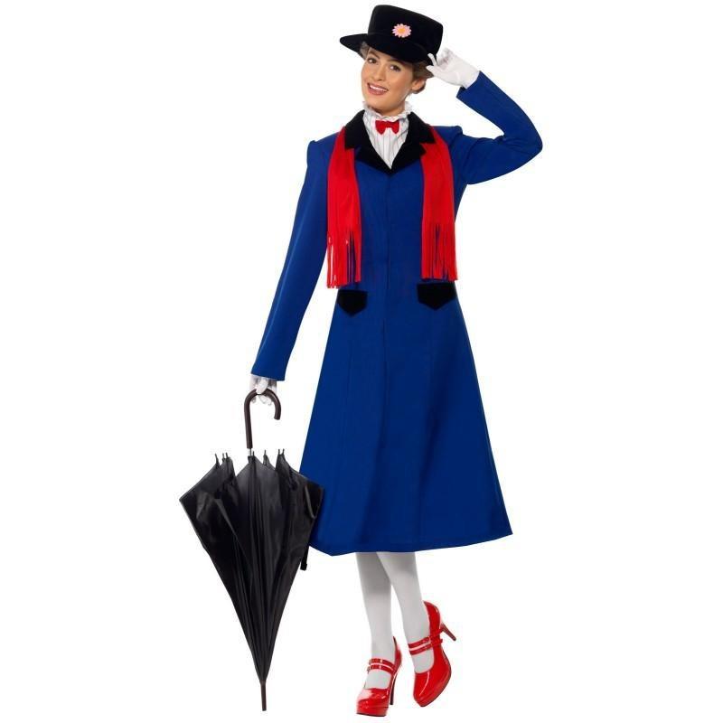 Mary Poppins Traje Feminino para Festa a Fantasia Halloween Cosplay