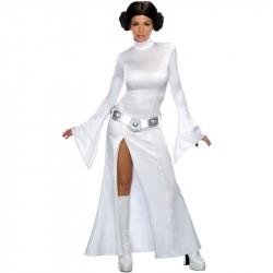 Princesa Leia Star Wars Traje Feminino para Festa a Fantasia Cosplay Halloween
