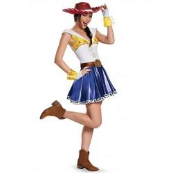 Jessie de Vestido Toy Story Traje Feminino para Festa a Fantasia Halloween