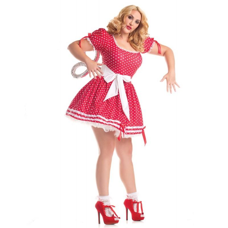 Boneca de Corda Plus Size Traje Feminino para Festa a Fantasia Halloween