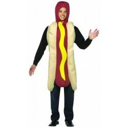 Cachorro Quente Hot Dog Criativo Adultos Festa a Fantasia Halloween Carnaval