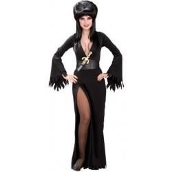 Elvira a Rainha das Trevas Adulto Feminino Festa a Fantasia Halloween Carnaval