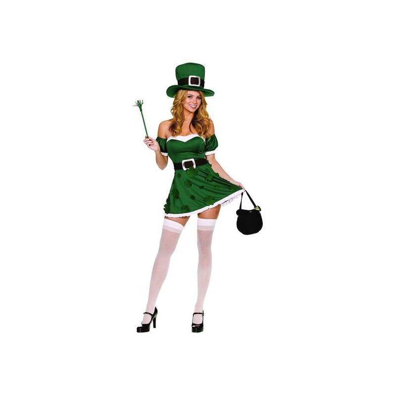 Irlandesa Sexy Traje Feminino para Festa a Fantasia Halloween