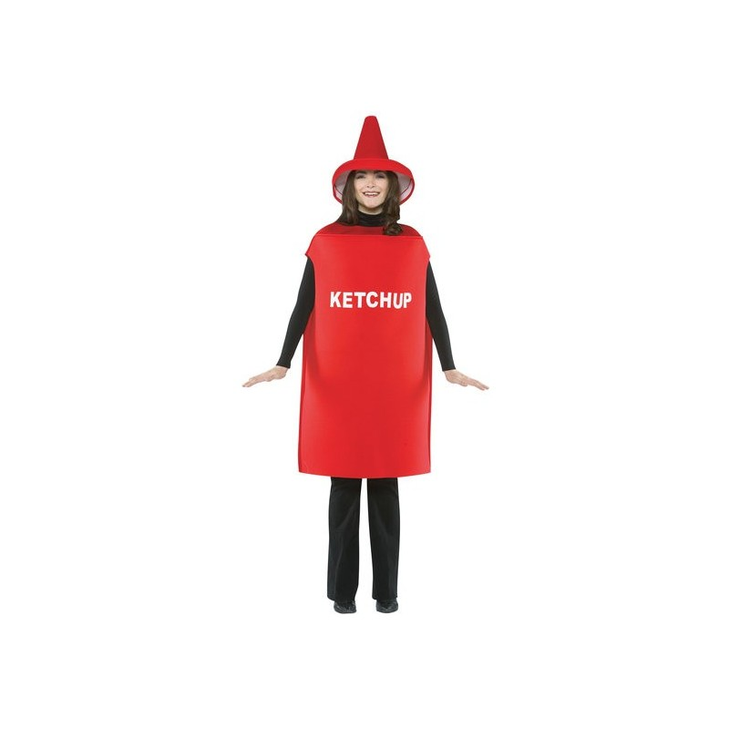 Ketchup Fantasia Criativa Adulto Unissex para Festa a Fantasia Halloween Carnaval