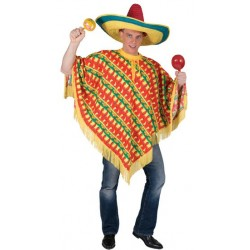 Mexicano Poncho Fantasia Masculina para Festa a Fantasia Halloween Carnaval