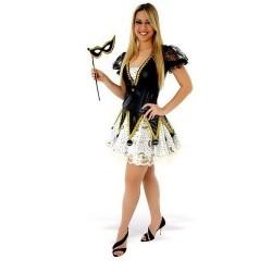 Colombina Fantasia Feminina Adulto Festa a Fantasia Halloween Carnaval