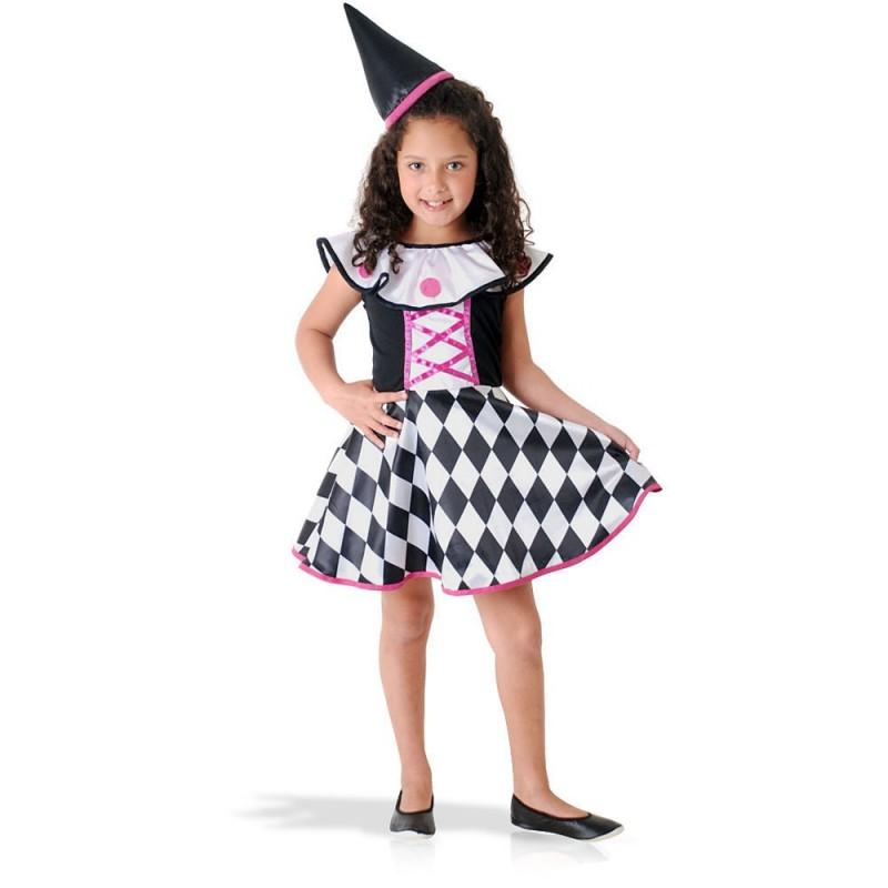 Colombina Fantasia Infantil Meninas para Carnaval Festa a Fantasia Halloween