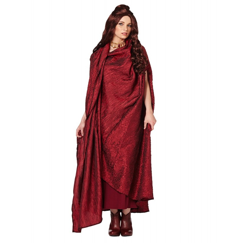 Melisandre Cloak Game Of Thrones Traje Feminino para Festa a Fantasia Halloween Cosplay
